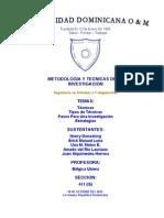 Tecnicas y Estrategias Para Una Investigacion