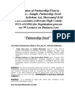 Registration of PartnershipFirm in Pakistan—Sample Partnership Deed-Rehan aziz Shervani (Advocate High Court)-0333-4324961-for Registration process see 99 Lectures on Business Law