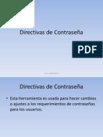 Clase 5 - Directivas Contraseña