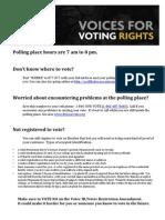 V4VR Election Day Information