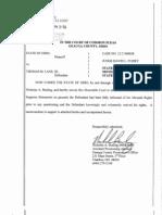 State of Ohio vs. Thomas M. Lane III, state's response to Motion to Suppress statements