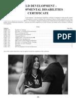 Child Development _ Disabilities Certificate