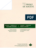 Planning for a sustainable future-Projet de société- volume 1