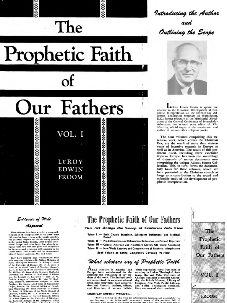 The Prophetic Faith Of Our Fathers V 1 Bible Prophecy