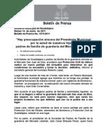 """14-06-2011 """"Hay preocupación sincera del Presidente Municipal por la salud de nuestros hijos""""; padres de familia de guardería del Mercado Libertad."""