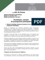 15-06-2011 Guadalajara, Ejemplo de Presupuesto Participativo