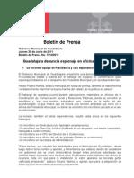 30-06-2011 Guadalajara Denuncia Espionaje en Oficinas Municipales