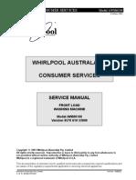 lavadora whirlpool awm6100 service manual