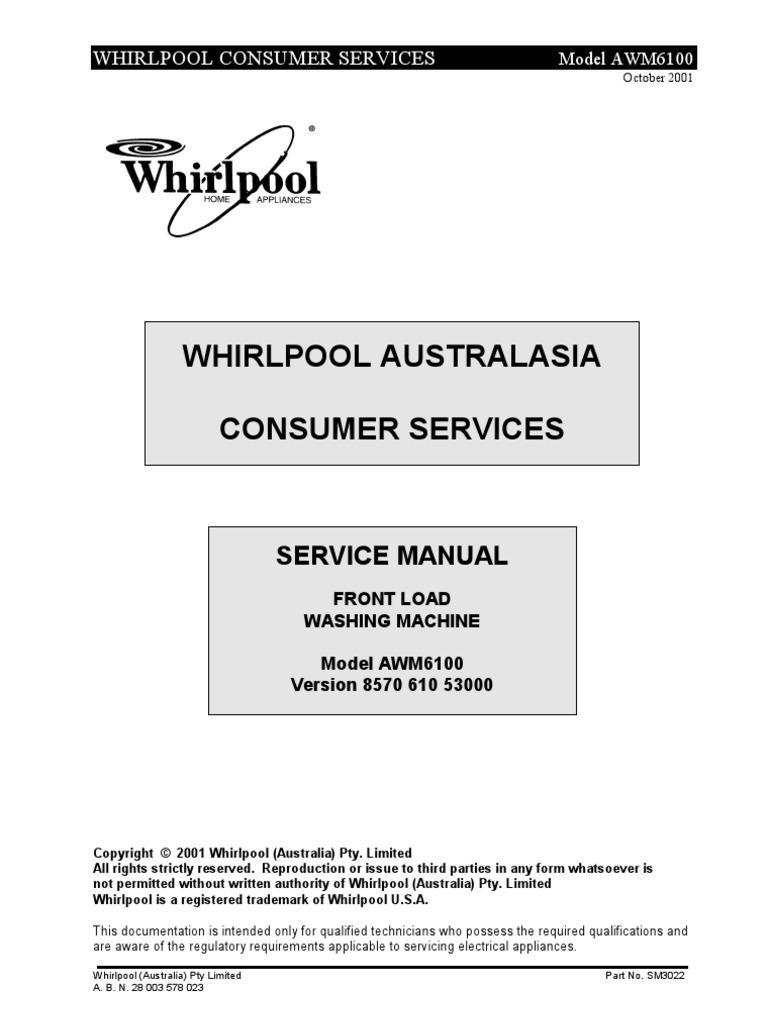 lavadora whirlpool awm6100 service manual washing machine rh scribd com whirlpool duet washer service manual whirlpool duet washer service manual