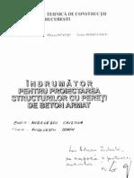 Indrumator Pt Proiectarea Structurilor Cu Pereti de Beton Armat - Postelnicu Gabor