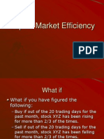 Lecture on Stock Market Efficiency