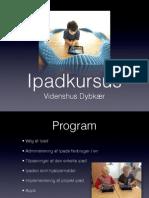 iPad Kursus Eksternt