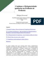 Formação Continua e Obrigatoriedade de Competências na Profissão de Professor