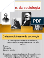 Pioneiros Da Sociologia (1)