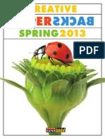 Creative Paperbacks Spring 2013