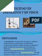 Toxicidad en Destilados y en Vinos