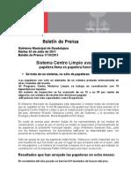 05-07-2011 Sistema Centro Limpio Avanza