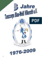 Festschrift Tanzcorps Blau-Weiss Vilkerath 2009