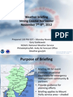 Latest Weather Briefing NWS - Coastal Storm 11/7-8/12