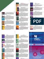 Catalogo de Libros de Criminalistica Ed. La Rocca