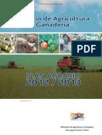 PLAN AGRARIO 2012 2013 - MINISTERIO DE AGRICULTURA Y GANADERÍA - PARAGUAY - PORTALGUARANI