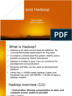 R and Hadoop for Big Data