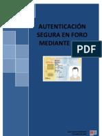 ProyectoF3-Autenticacion Proyecto Foro en PHP mediante DNI Electrónico