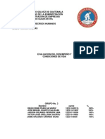 EVALUACION DEL DESEMPEÑO Y CONDICIONES DE VIDA (LOS JACKAS)