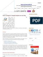 Como Configurar o Google Analytics Em Seu Blog