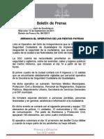 14-09-2011 Arranca El Operativo de Las Fiestas Patrias.