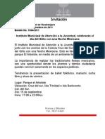 15-09-2011 Instituto Municipal de Atención a la Juventud, celebrarán el día del Grito con una Noche Mexicana