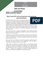 22-09-2011 Expo Joven VII crece para generar más opciones para los jóvenes
