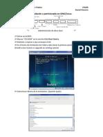 Instalación y particiones Fedora
