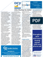 Pharmacy Daily for Tue 06 Nov 2012 - Aspirin for clots, Vitamin investment, Inhaled oxytocin, TGA review and much more