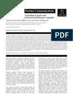 Phenolic Composition, Antioxidant Capacity andAntibacterial Activity of Selected Irish Brassica Vegetables