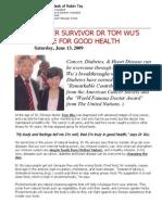Cancer Survivor Dr Wu