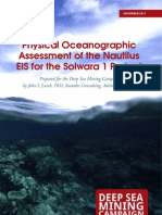 Physical Oceanographic Assessment of the Nautilus Environmental Impact Statement for the Solwara 1 Project - An Independent Review