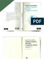 Capital Cultural, Escuela y Espacio Social PIERRE BOURDIEU
