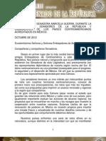 05-11-12 Sesión entre Senadores y Embajadores de países centroamericanos