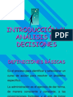 Unidad I, Introduccion Al Analisis de Decisiones