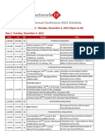 Final Schedule of Network FP Annual Conference 2012