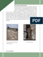Excavacion de Cepas