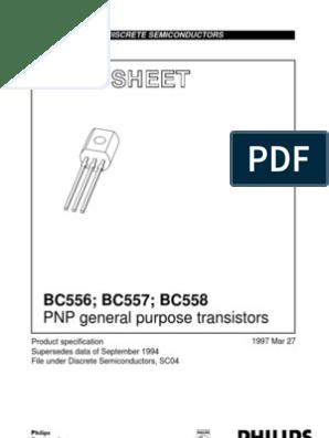 50 x bc558a Transistor PNP to-92 100 mA 500 mW 30 V