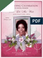 Lola Wade Funeral Program