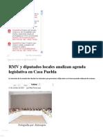 15-10-12 Sexenio Puebla - RMV y Diputados Locales Analizan Agenda Legislativa en Casa Puebla