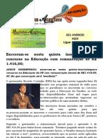 Encerram-se nesta quinta inscrições para concurso na Educação com remuneração de R$ 1.416,00