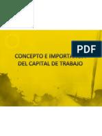 Concepto e Importancia Del Capital de Trabajo