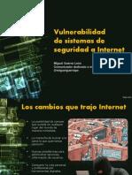 Vulnerabilidad de sistemas de seguridad a internet