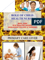 Role of pediatric nurse