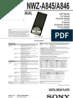 NZW A845 A846 Service Manual